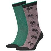 Levis 2-pack 168SF Regular Cut Micro Stripe Palm Socks * Fri Frakt *