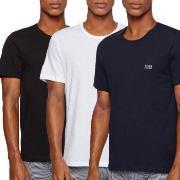 BOSS Cotton Classic Crew Neck T-shirt 3P Vit/Marin bomull Medium Herr
