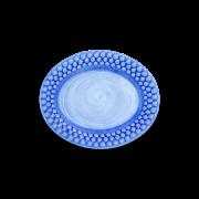 Bubbles Oval Tallrik Ljusblå 20 cm