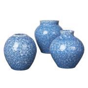 Ingrid keramikvas 14,5 cm 3-pack Insignia blue-white
