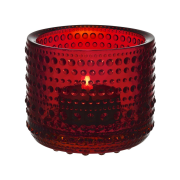 Kastehelmi ljuslykta 64 mm tranbär (röd)