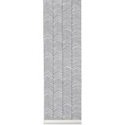 Herringbone tapet svart-grå