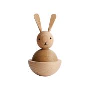 Rabbit träfigur bok-ek