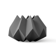 Folded vas carbon (mörkgrå)