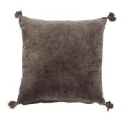 Bloomingville kudde med toffsar brun, 50x50 cm