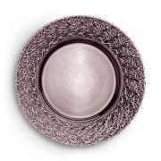 Lace Tallrik 32 cm, Plommon