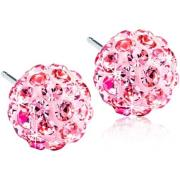 Blomdahl Natural Titanium Crystal Ball 6mm Light Rose