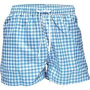 Resteröds Swimwear Blue/White squers L