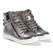 Michael Kors Ivy Cadet Zip Sneakers Silver 35 (UK 2.5)