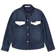 Calvin Klein Jeans Dark Wash Denim Skjorta 4 years