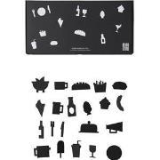 Design Letters Matikoner för Anslagstavla Svart (21-pack) One Size