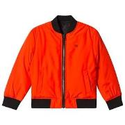 Calvin Klein Jeans Vändbar Bomber Jacka Orange/Svart 4 years