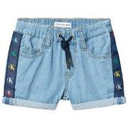 Calvin Klein Jeans Branded Shorts Mid Blue 4 years