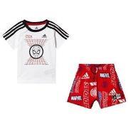 adidas Performance Spiderman T-shirt och Shorts Set Vit/Röd 3-6 months...