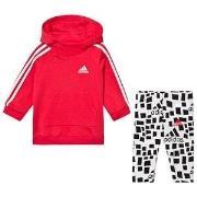 adidas Performance Logo huvtröja och Leggings Set Rosa 3-6 months (68 ...