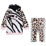 adidas Originals Black Animal Print Trefoil Logo Hoodie & Bottom Infan...