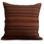 Striped Linen Cotton Kuddfodral 50x50 cm, Rust