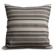 Striped Linen Cotton Kuddfodral 50x50 cm, Creme