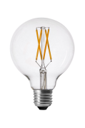 Shine LED Filament Globe Clear 95mm