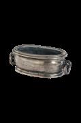 Oval skål med ringhandtag
