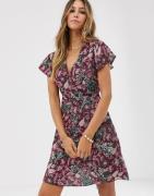 Vila – Paisleymönstrad klänning-Flerfärgad